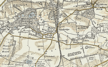 Old map of Woodcock Hill in 1901