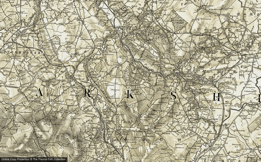 Old Map of Historic Map covering Lesser Linn in 1904-1905
