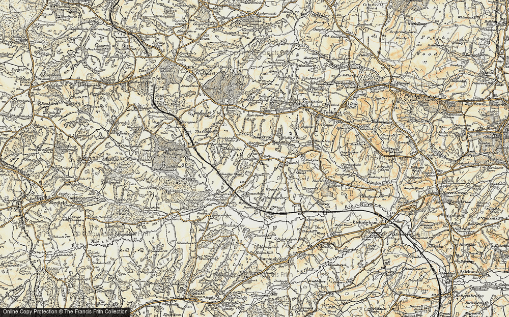 Old Map of Stonegate, 1898 in 1898