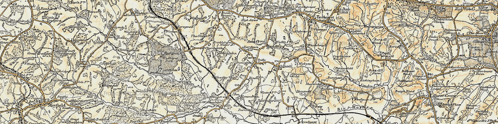 Old map of Stonegate in 1898