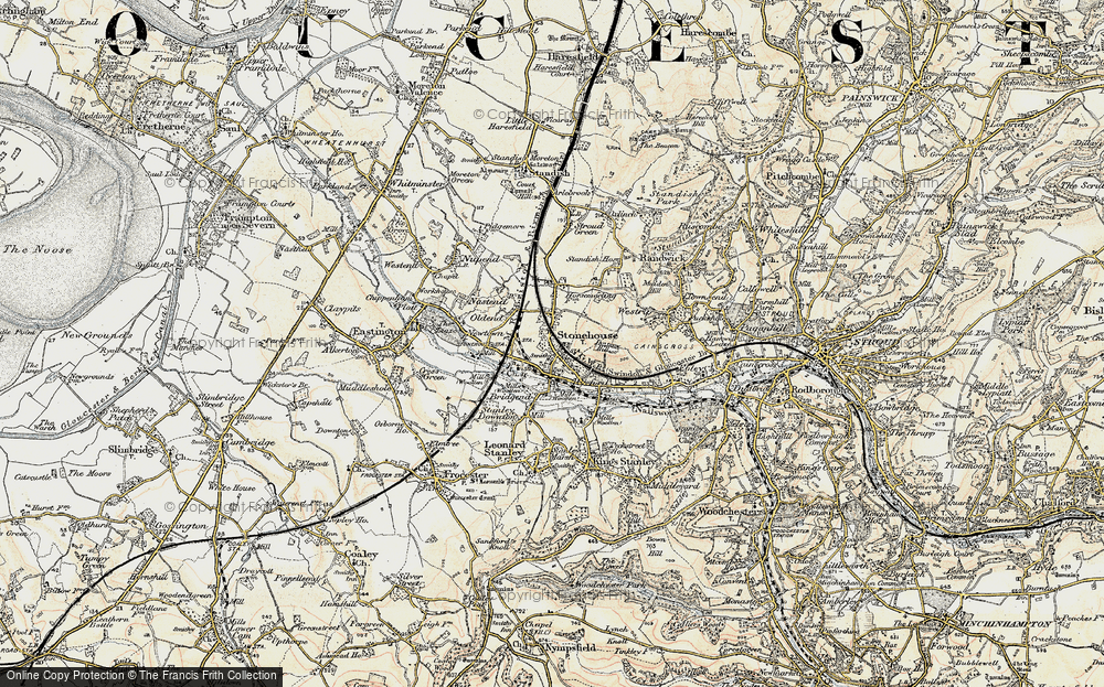 Old Map of Stonehouse, 1898-1900 in 1898-1900