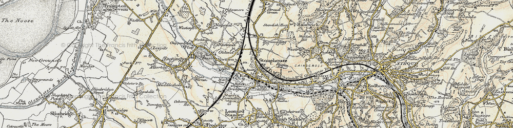 Old map of Stonehouse in 1898-1900