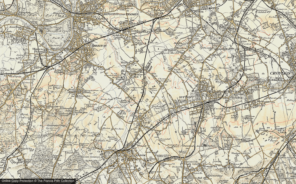 Old Map of Stoneleigh, 1897-1909 in 1897-1909