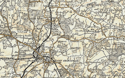 Old map of Larches, The in 1898-1902