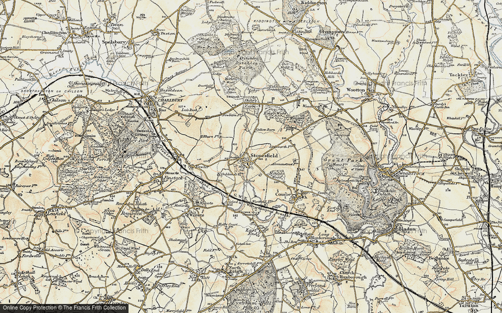 Old Map of Historic Map covering Ash Copse in 1898-1899