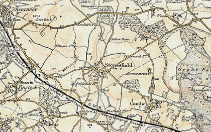 Old map of Ash Copse in 1898-1899