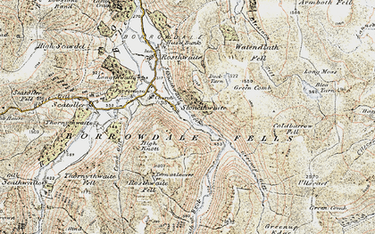 Old map of White Crag in 1903-1904