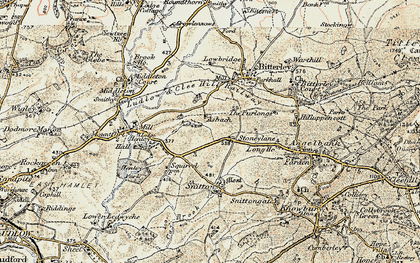 Old map of Asbatch in 1901-1902