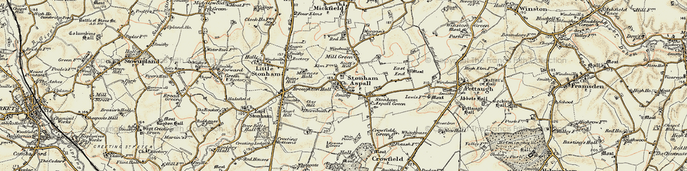Old map of Whin Plantn in 1898-1901