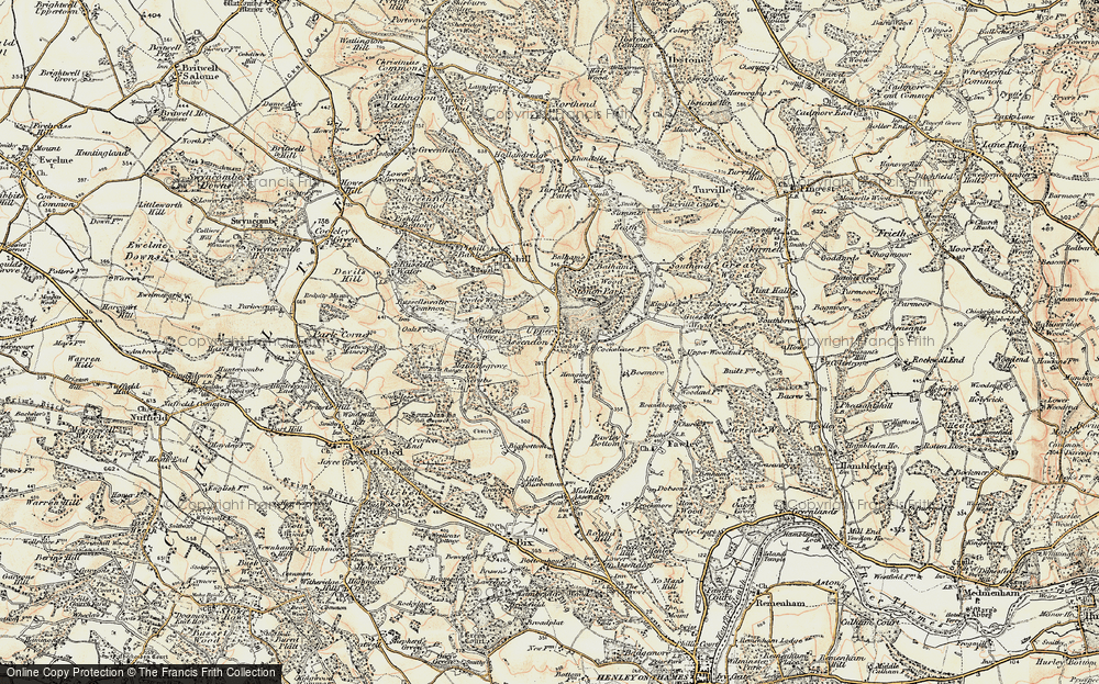 Old Map of Historic Map covering Balhams Farm Ho in 1897-1898