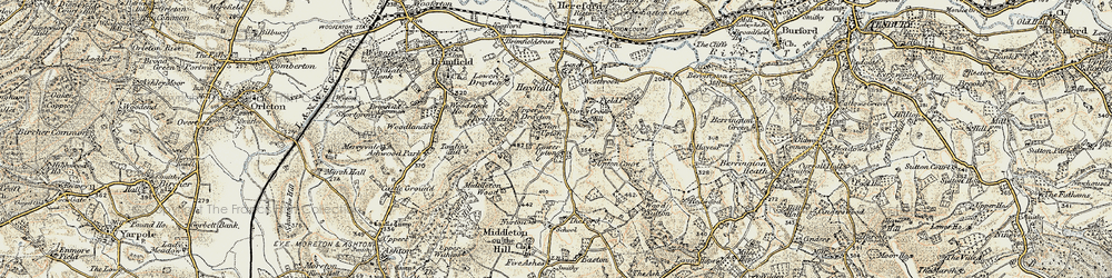 Old map of Wood Sutton in 1901-1902