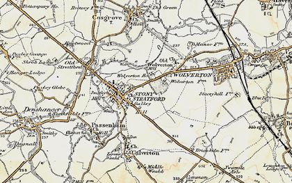 Old map of Stony Stratford in 1898-1901