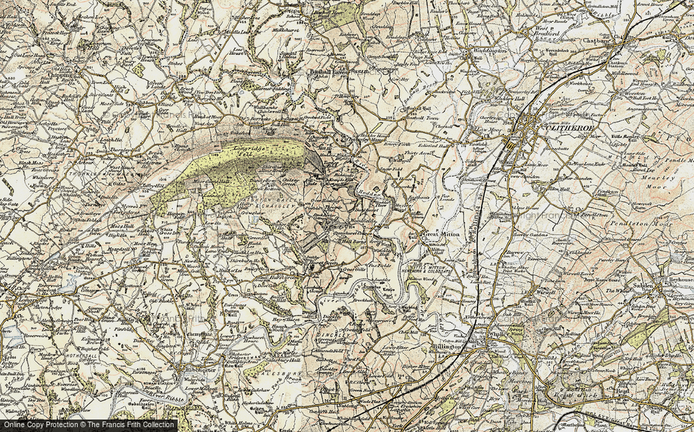 Old Map of Historic Map covering Woodfields in 1903-1904