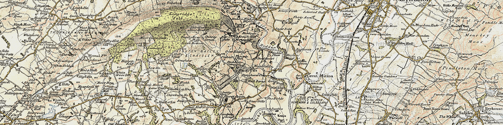 Old map of Woodfields in 1903-1904