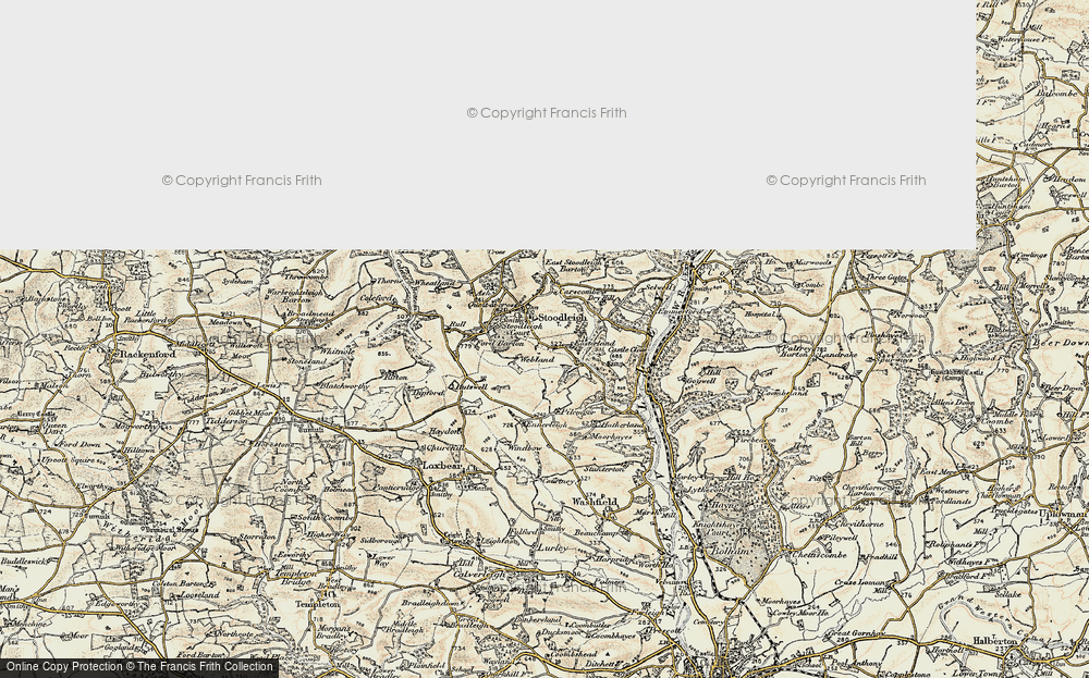 Old Map of Historic Map covering Ash in 1898-1900
