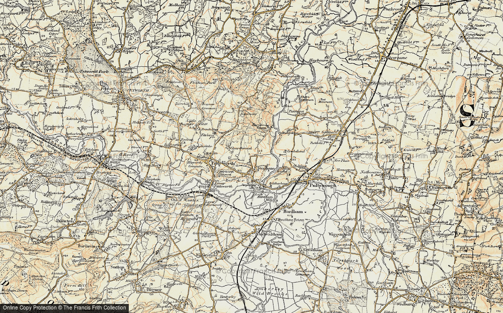 Old Map of Historic Map covering Stopham Ho in 1897-1900