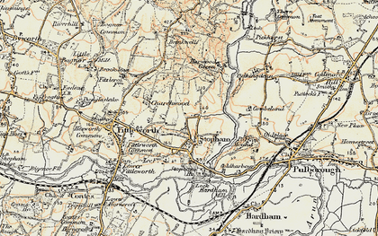 Old map of Stopham Ho in 1897-1900