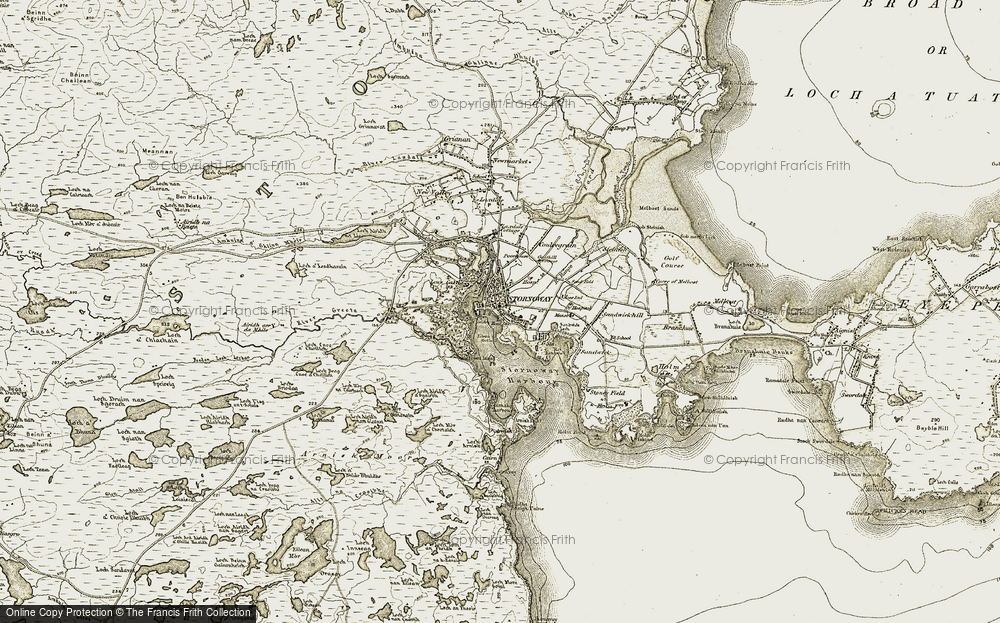 Old Map of Historic Map covering Àird a' Chleirich in 1909-1911