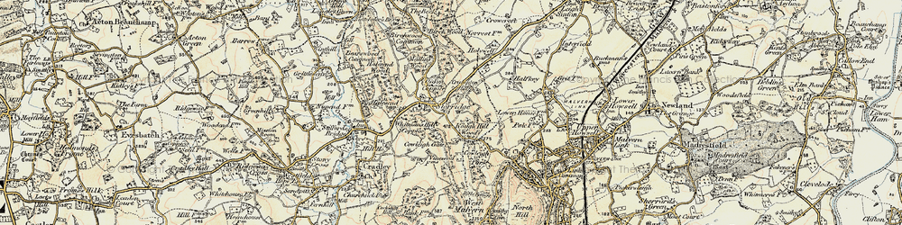 Old map of Whitman's Hill Coppice in 1899-1901