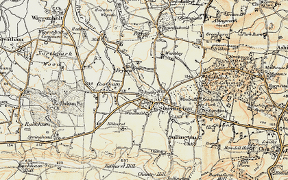 Old map of Storrington in 1897-1900