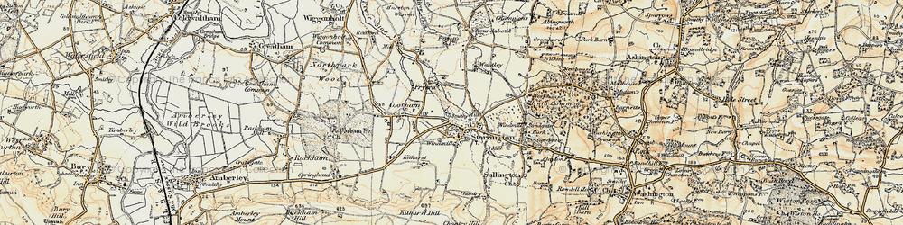 Old map of Storrington in 1897-1900