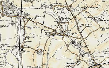 Old map of Stotfold in 1898-1901