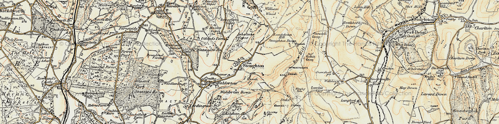 Old map of Stoughton in 1897-1899