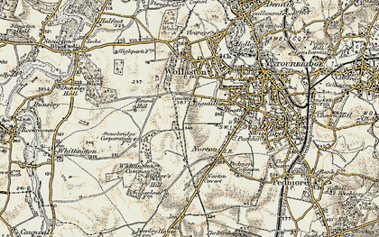 Old map of Stourbridge in 1901-1902