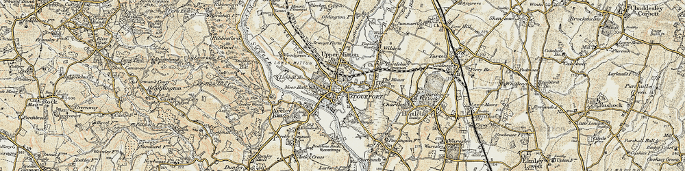 Old map of Stourport-on-Severn in 1901-1902