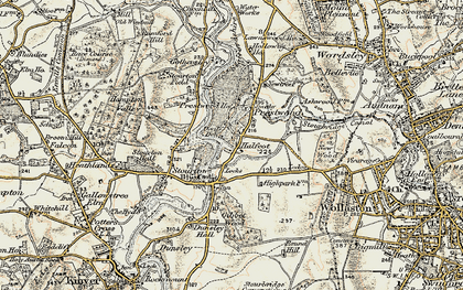 Old map of Stourton in 1901-1902