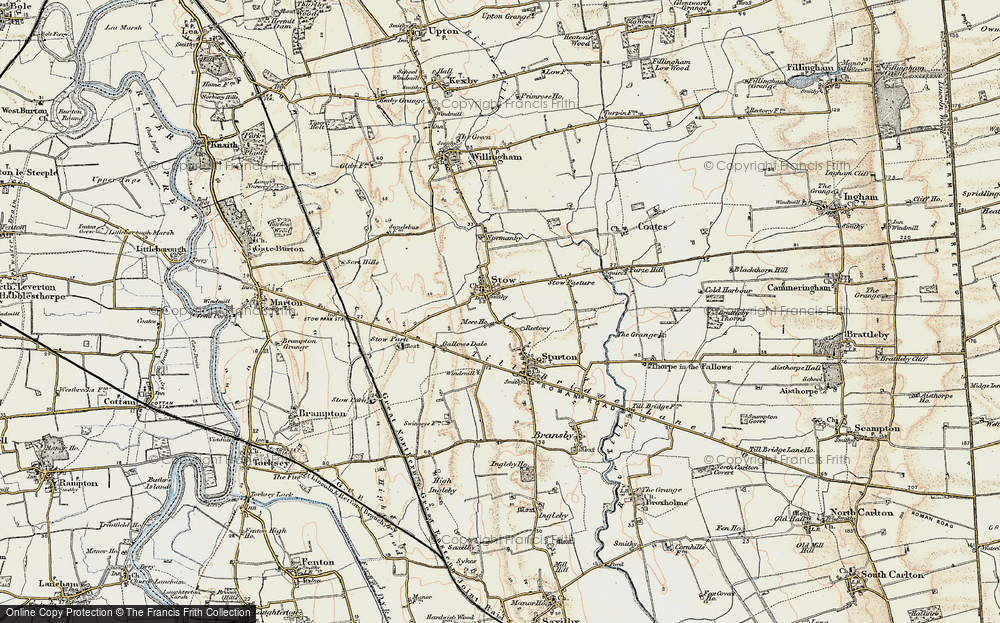 Old Map of Stow, 1902-1903 in 1902-1903
