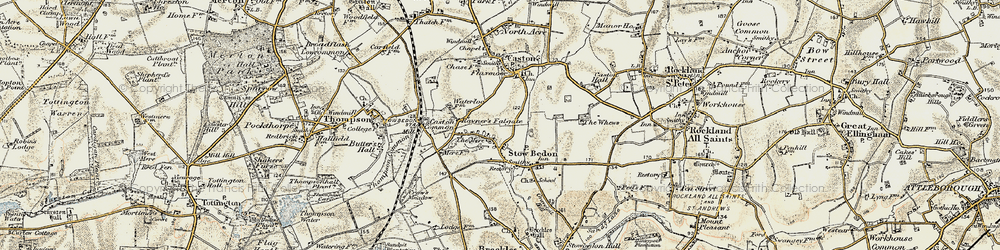 Old map of Whews, The in 1901-1902