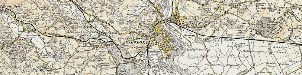 Old map of Stow Park in 1899-1900