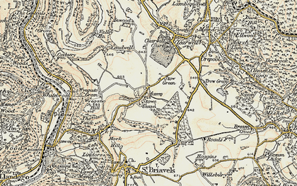 Old map of Stowe in 1899-1900