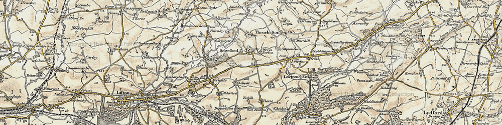 Old map of Wreys Barton in 1900