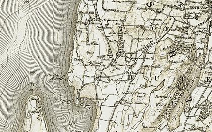 Old map of Largievrechtan in 1905-1907