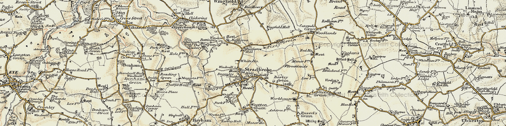 Old map of Wingfield Hall in 1901-1902