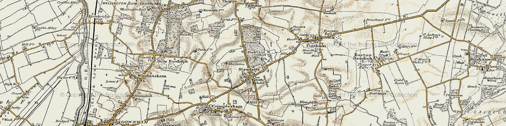 Old map of Toombers Wood in 1901-1902