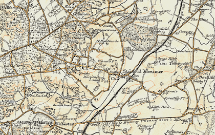 Old map of Stratfield Mortimer in 1897-1900