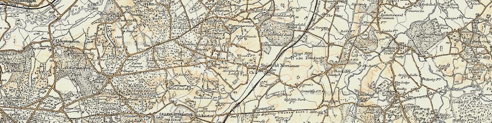 Old map of Wokefield Park in 1897-1900