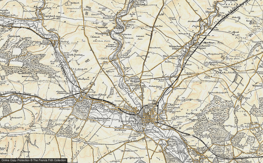 Old Map of Historic Map covering Avon Br in 1897-1898