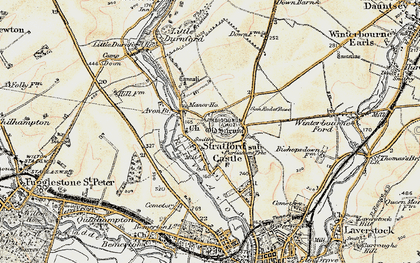 Old map of Old Sarum in 1897-1898