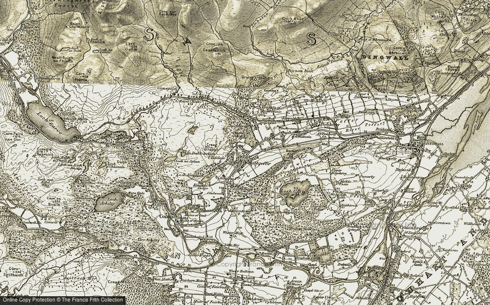 Old Map of Strathpeffer, 1908-1912 in 1908-1912