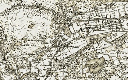Old map of Strathpeffer in 1908-1912