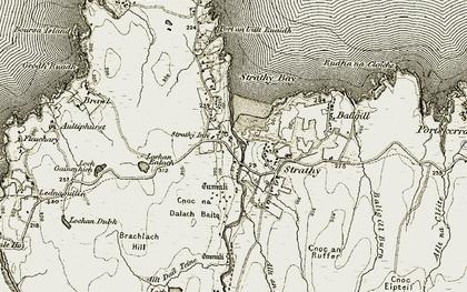 Old map of Allt an Reidhe Ruaidh in 1910-1912