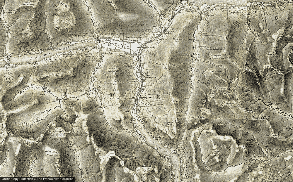 Old Map of Strathyre, 1906-1907 in 1906-1907