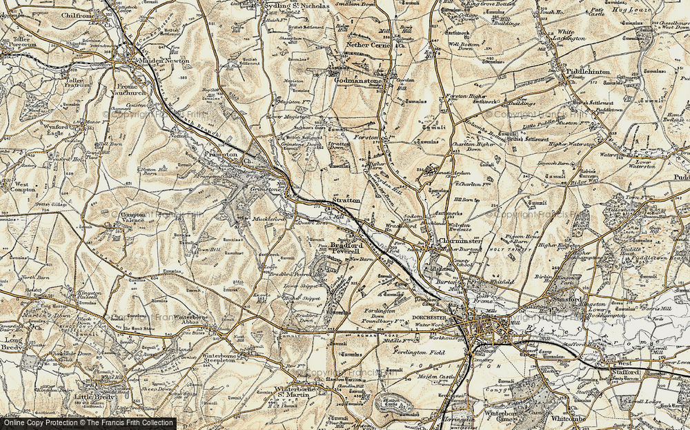 Old Map of Historic Map covering Ash Hill in 1899