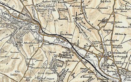Old map of Wrackleford in 1899