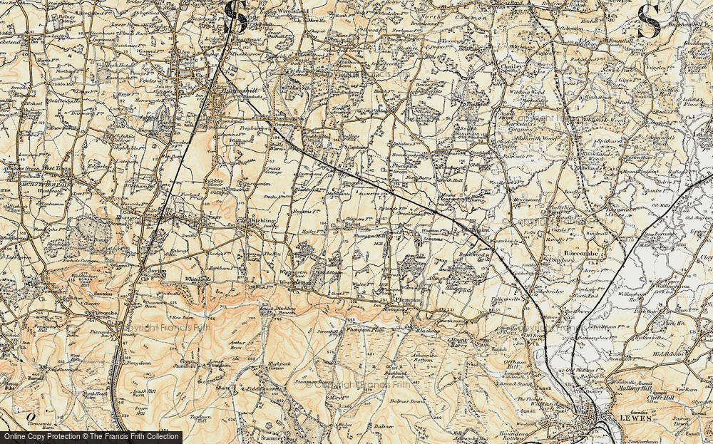 Old Map of Streat, 1898 in 1898