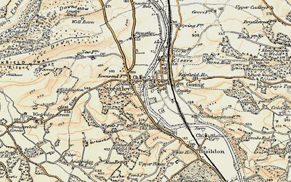 Old map of Streatley in 1897-1900